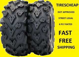 27 Black Diamond XTR Deep Lug ATV Tires Complete Set 4 Dot Approved
