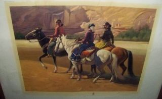 Navajo Print by Gerard Curtis Delano Signed with Paper Work