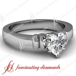 Solitaire Diamond Bow Style Engagement Ring 14k VVS2 F GIA