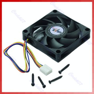70mm x 15mm Brushless Fan DC 12V 4 Pin 9 Blade Cooler Cooling