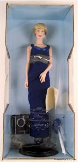Princess Diana Porcelain Doll Franklin Mint Blue Gown
