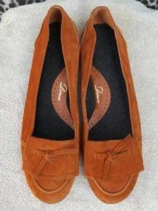 Delman Suede Loafers Flats Mocs Shoes Whisper 11 Bergdorf Goodman $250