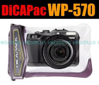 DiCAPac Waterproof Case for Panasonic DMC LX5 ZS5 7 TZ8