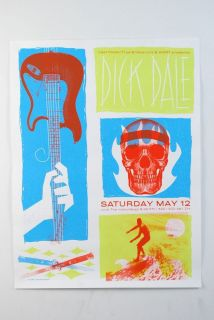 Dick Dale with The Waterdogs May 12 Concert Promo Retro Surfer Poster