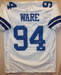 DeMarcus Ware Autographed Dallas Cowboys White Jersey Authenticated by