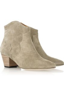 Isabel Marant suede dicker boots in Taupe sz 40