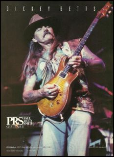 THE ALLMAN BROTHERS DICKEY BETTS FOR PRS GUITARS 1995 AD 8X11