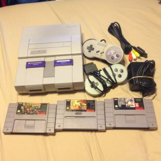 Super Nintendo SNES Console Diddy Kong Quest Donkey Kong 2 Wanderers