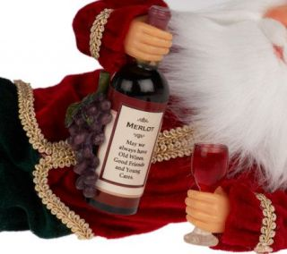 Collectable 12 Wine Sculpted Santa Figurine by Karen Didion
