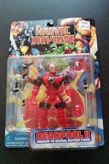 MARVEL UNIVERSE DEADPOOL II FIGURE RARE marvel toy biz MOC NEW