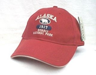 Denali National Park Alaska Grizzly Bear Ball Cap Hat Structured OURAY