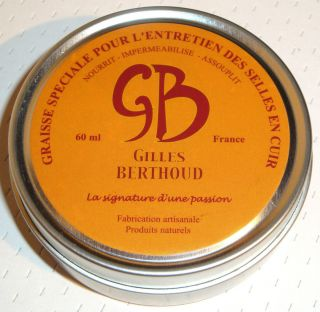 New Gilles Berthoud Wax Grease for Leather Saddle France Brooks Ideale