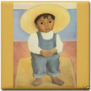 Diego Rivera Mexican Boy Ignacio Art Ceramic Tile