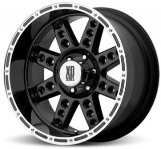 20 XD XD766 Diesel Wheels Tires Black Offroad Rims