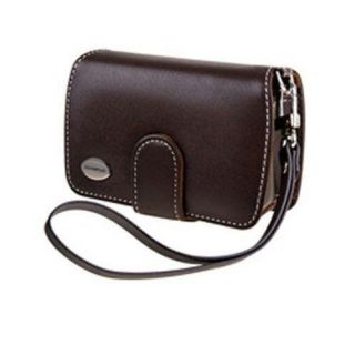 Olympus 202086 Brown Digital Camera Slim Leather Case