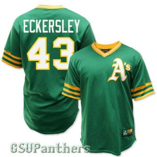 Dennis Eckersley Oakland Athletics Cooperstown Green Jersey Mens Sz s