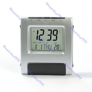 Transparent Screen LCD Digital Alarm Clock Reminder 002