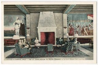 Post Card Interior Hotel Dennis Atlantic City N J
