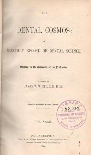 1890 Antique Medical Dentistry Book Dental Cosmos Bound Volume of Full