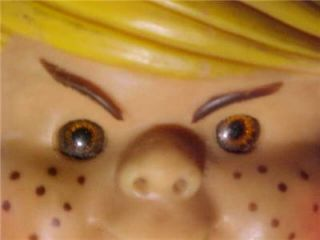 Old 1950s TV Dennis The Menace Rubber Vinyl Toy Doll Head Orig Vintage