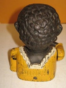 Vintage Cast Iron Black Americana Dinah Mechanical Bank