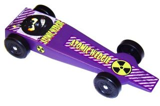 Atomic Wedgie Pinewood Derby Car Kit Derby Monkey 4012