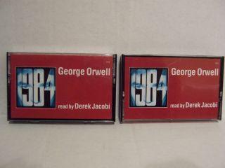 George Orwell Cassette Tape Audio Book Read by Derek Jacobi
