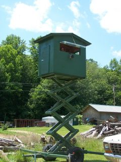 Hydraulic Deer Stand Hunting Blind