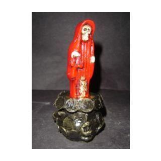 156 Caldero Del Dinero Statue Santa Muerte Red Semillas Abundancia