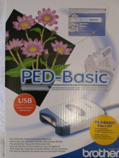 Brother Ped Basic Embroidery Design Transfer Box Card