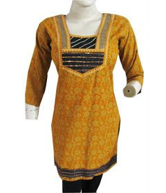 Designer Long Women Cotton Long Kurta Kurti Shirt Top Floral Long