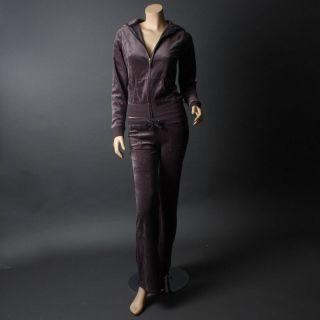 Designer Velour Long Sleeve Woman Tracksuit Hoodie Jacket Pants Set