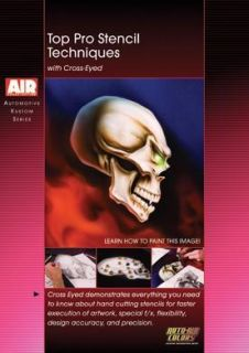 Top Pro Stencil Techniques DVD Kustom Airbrush Paint