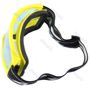 Motorcycle Raider Motocross Dirt Bike ATV Goggle Goggles Yellow