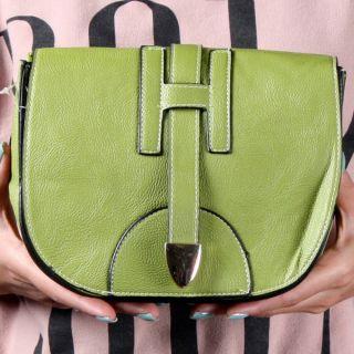 Summer Spring Green Small Designer Inspired Crossbody Shoulder Bag