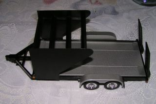 Modified Dirt Late Model Race Car Hauler Trailer 1 24