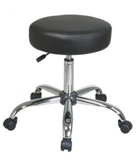 Vinyl Medical Exam Dental Swivel Chair Stool w/Chrome Base & Wheels