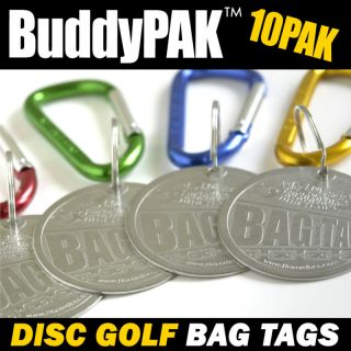 New 10 Buddy Pak Bag Tags for Disc Golf Tournament Tag Pack 10PAK Fast