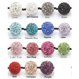 12mm Swarovski Crystal Pave Disco Ball Bead Charm Spacer Beads