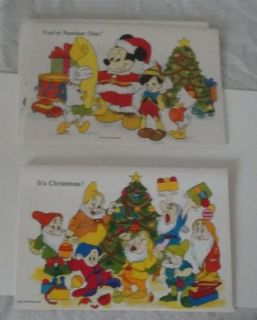 VINTAGE DISNEY CHRISTMAS CARDS UNUSED IN BOX 14 CARDS & ENVELOPES