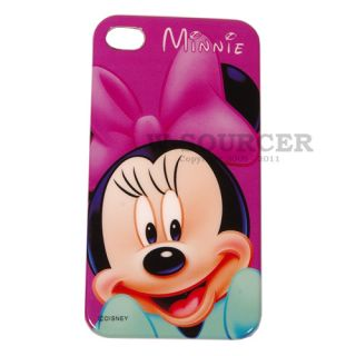 New Minnie Mouse Disney Hard Back Cover Case iPhone 4G 4S