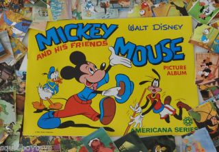 354 Mickey Mouse Disney Cards Album 1970s Americana