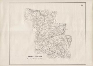Perry County Ohio Authentic Antique Map New Lexington Genuine 102