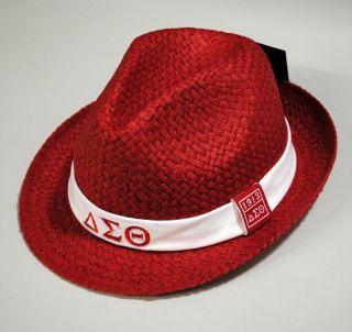 Delta Sigma Theta Red Black Cap Hat Fedora