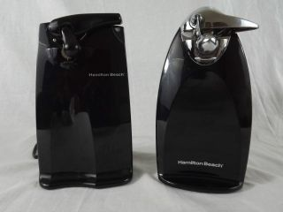 Lot of 2 Electric Can Opener Hamilton Beach Knife Sharpener Black