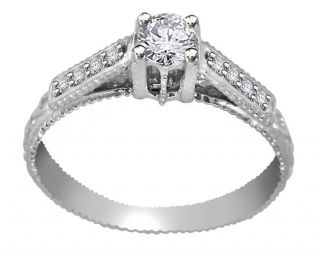35 CTW Round Cut Diamond Jewelry White Gold Solitaire Wedding