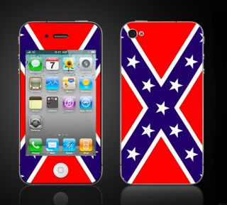 iPhone 4 Rebel Flag Skin Confederate Dixie IP4REBEL