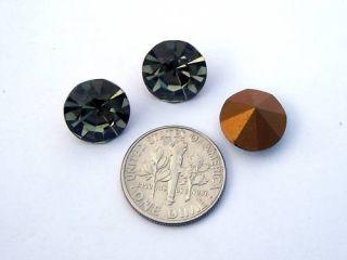 Preciosa 48SS Black Diamond Machine Cut Rhinestones