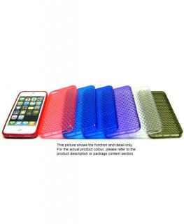 Purple Diamond Clear Soft Silicone Rubber Snap Cover Case for iPhone 5