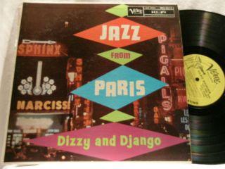 Dizzy Gillespie Django Reinhardt Jazz from Paris LP